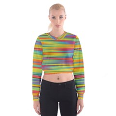 Colorful Background Cropped Sweatshirt