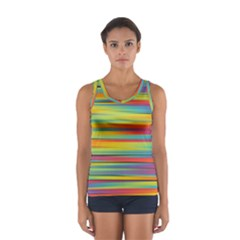 Colorful Background Sport Tank Top