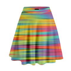 Colorful Background High Waist Skirt