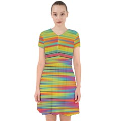 Colorful Background Adorable In Chiffon Dress