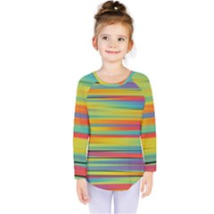 Colorful Background Kids  Long Sleeve Tee
