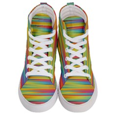 Colorful Background Men s Hi Top Skate Sneakers