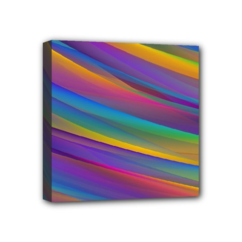 Colorful Background Mini Canvas 4  X 4