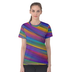 Colorful Background Women s Cotton Tee