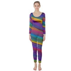 Colorful Background Long Sleeve Catsuit