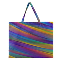 Colorful Background Zipper Large Tote Bag