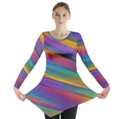 Colorful Background Long Sleeve Tunic