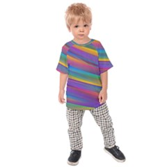 Colorful Background Kids Raglan Tee