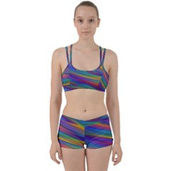 Colorful Background Women s Sports Set
