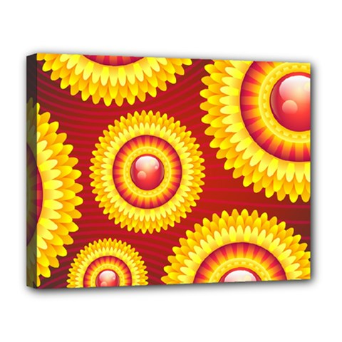 Floral Abstract Background Texture Canvas 14  X 11
