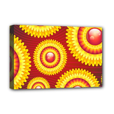 Floral Abstract Background Texture Deluxe Canvas 18  X 12