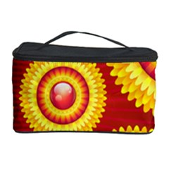 Floral Abstract Background Texture Cosmetic Storage Case