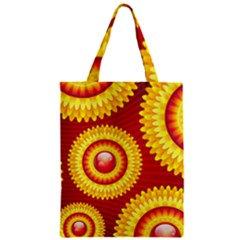 Floral Abstract Background Texture Zipper Classic Tote Bag