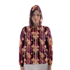 Seamless Pattern Patterns Hooded Wind Breaker (women)
