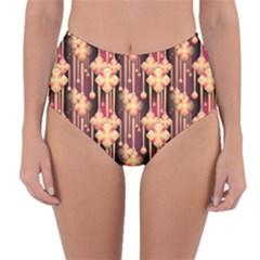 Seamless Pattern Patterns Reversible High Waist Bikini Bottoms