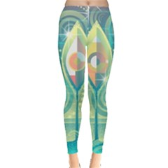 Background Landscape Surreal Leggings