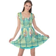 Background Landscape Surreal Cap Sleeve Dress