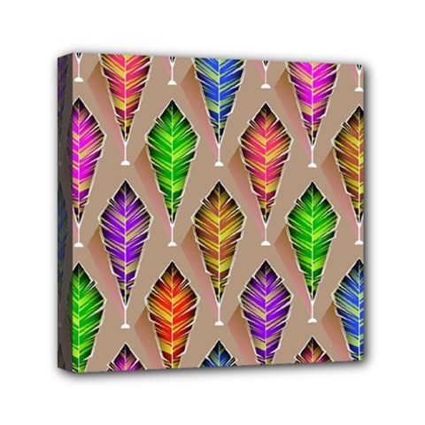Abstract Background Colorful Leaves Canvas Travel Bag