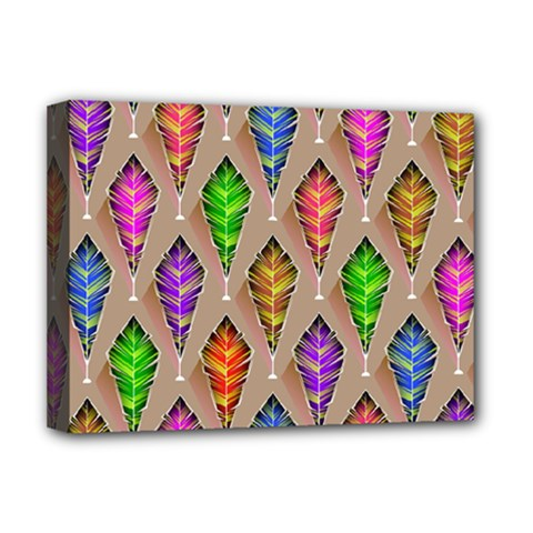 Abstract Background Colorful Leaves Deluxe Canvas 16  X 12