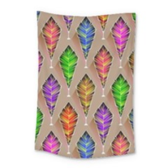 Abstract Background Colorful Leaves Small Tapestry