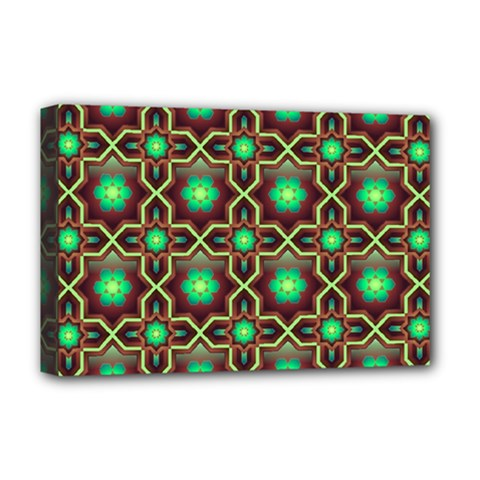 Pattern Background Bright Brown Deluxe Canvas 18  X 12