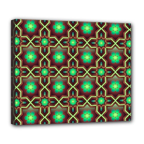 Pattern Background Bright Brown Deluxe Canvas 24  X 20