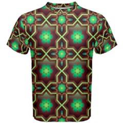 Pattern Background Bright Brown Men s Cotton Tee