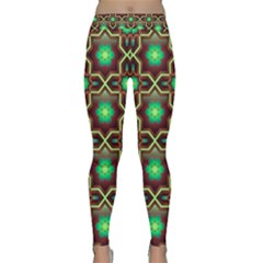 Pattern Background Bright Brown Classic Yoga Leggings