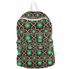 Pattern Background Bright Brown Foldable Lightweight Backpack