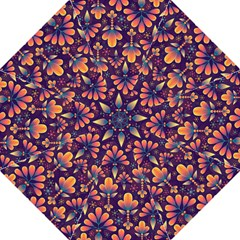 Abstract Background Floral Pattern Folding Umbrellas