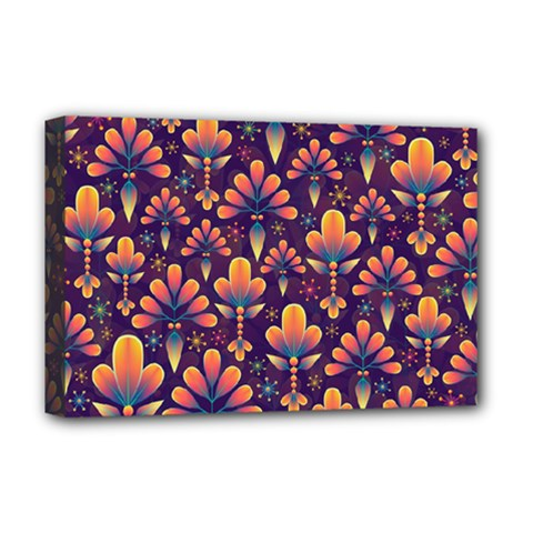Abstract Background Floral Pattern Deluxe Canvas 18  X 12