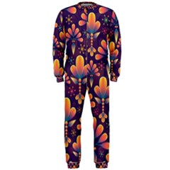 Abstract Background Floral Pattern Onepiece Jumpsuit (men)