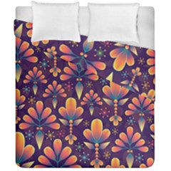 Abstract Background Floral Pattern Duvet Cover Double Side (california King Size)