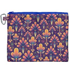 Abstract Background Floral Pattern Canvas Cosmetic Bag (xxxl)