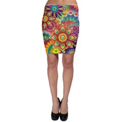 Colorful Abstract Background Colorful Bodycon Skirt