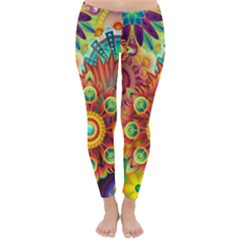 Colorful Abstract Background Colorful Classic Winter Leggings