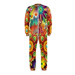 Colorful Abstract Background Colorful Onepiece Jumpsuit (kids)