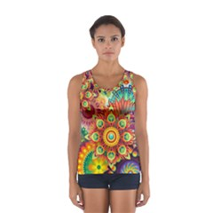 Colorful Abstract Background Colorful Sport Tank Top