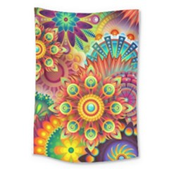 Colorful Abstract Background Colorful Large Tapestry