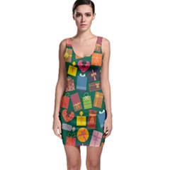 Presents Gifts Background Colorful Bodycon Dress