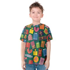 Presents Gifts Background Colorful Kids  Cotton Tee