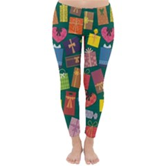 Presents Gifts Background Colorful Classic Winter Leggings