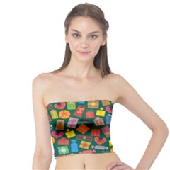 Presents Gifts Background Colorful Tube Top