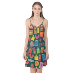 Presents Gifts Background Colorful Camis Nightgown