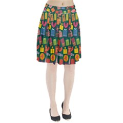 Presents Gifts Background Colorful Pleated Skirt