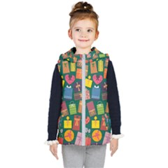 Presents Gifts Background Colorful Kid s Puffer Vest