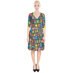 Presents Gifts Background Colorful Wrap Up Cocktail Dress