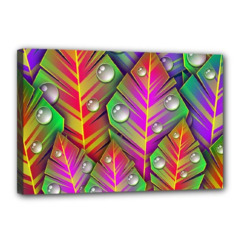 Abstract Background Colorful Leaves Canvas 18  X 12