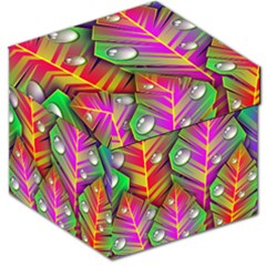 Abstract Background Colorful Leaves Storage Stool 12