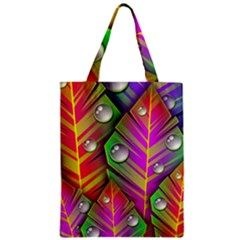 Abstract Background Colorful Leaves Zipper Classic Tote Bag